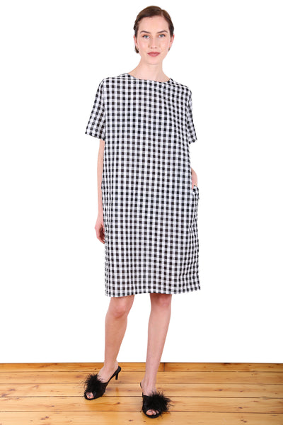 Suzi Gingham Dress Black