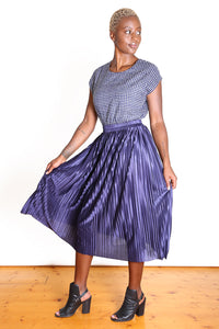 Toronto Pleat Skirt Navy Blue