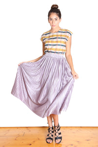 Toronto Pleat Skirt Silver Grey