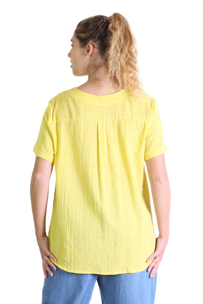 Thelma Seer Top Yellow