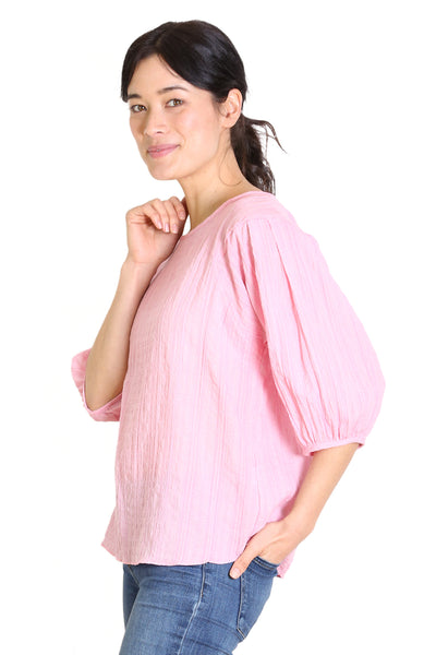 Thelma Seer Blouse Pink