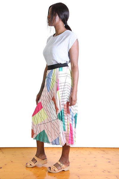 Tiffany Pleat Skirt Pink