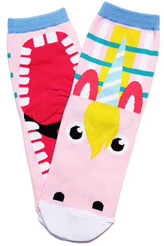 Uri Unicorn Cotton Socks Pink