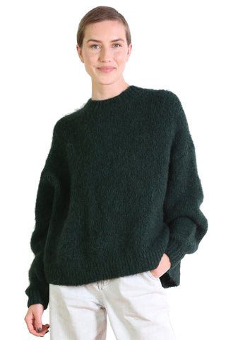 Upper East Side Alpaca Sweater Forest Green