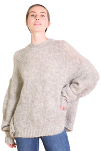 Upper East Side Alpaca Sweater Sand Grey