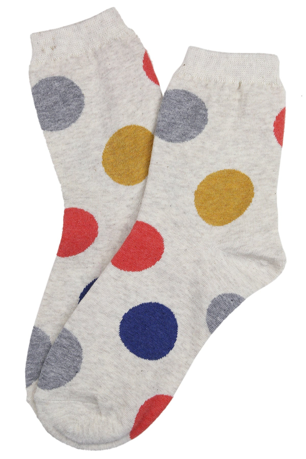 Super Spot Cotton Socks Cream