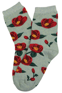 Fantastic Flower Cotton Socks Green