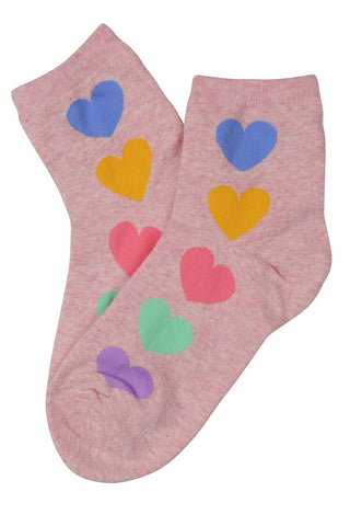 Home Sweet Home Cotton Socks Pink