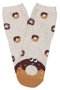 Dreaming of Donuts Cotton Socks Beige