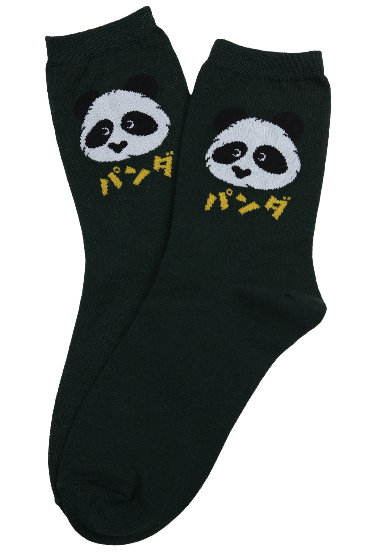 Kuma Cotton Socks Panda Green