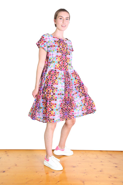 Kaleidoscope Cotton Dropwaist Dress Pink