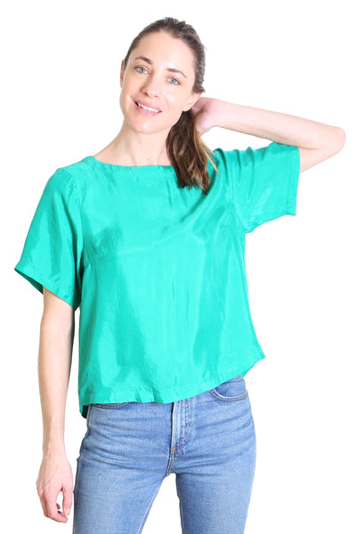 Kitty Top Emerald Green