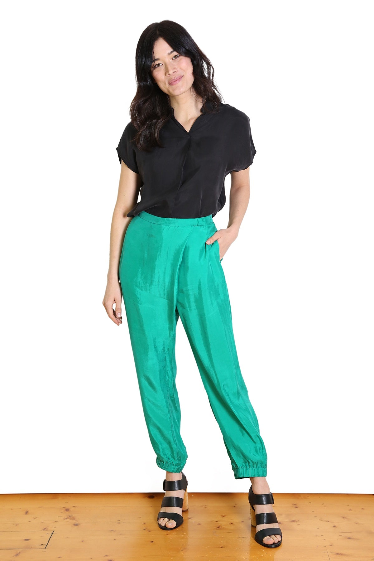 Jamie Lee Pants  Emerald Green