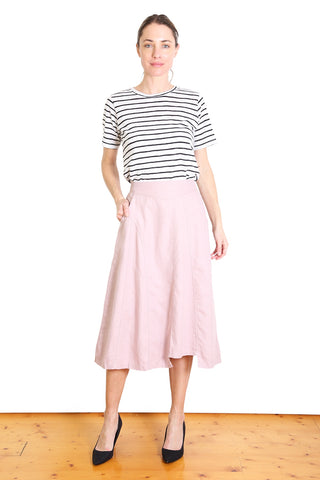 Santiago Cotton/Linen Skirt Pink