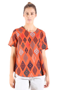 Maya Seer Top Orange