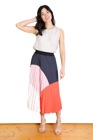 Dorothy Pleat Skirt - Pink