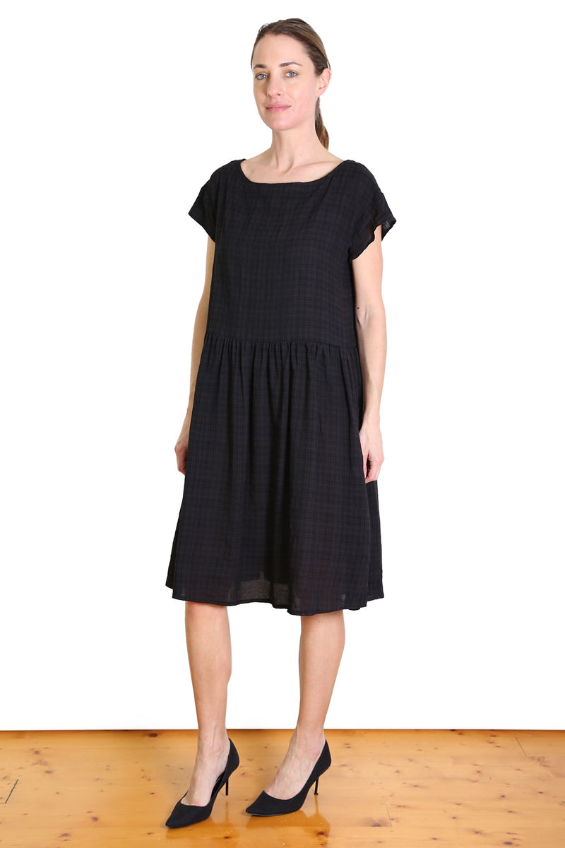 Thelma Drop Waist Dress Black