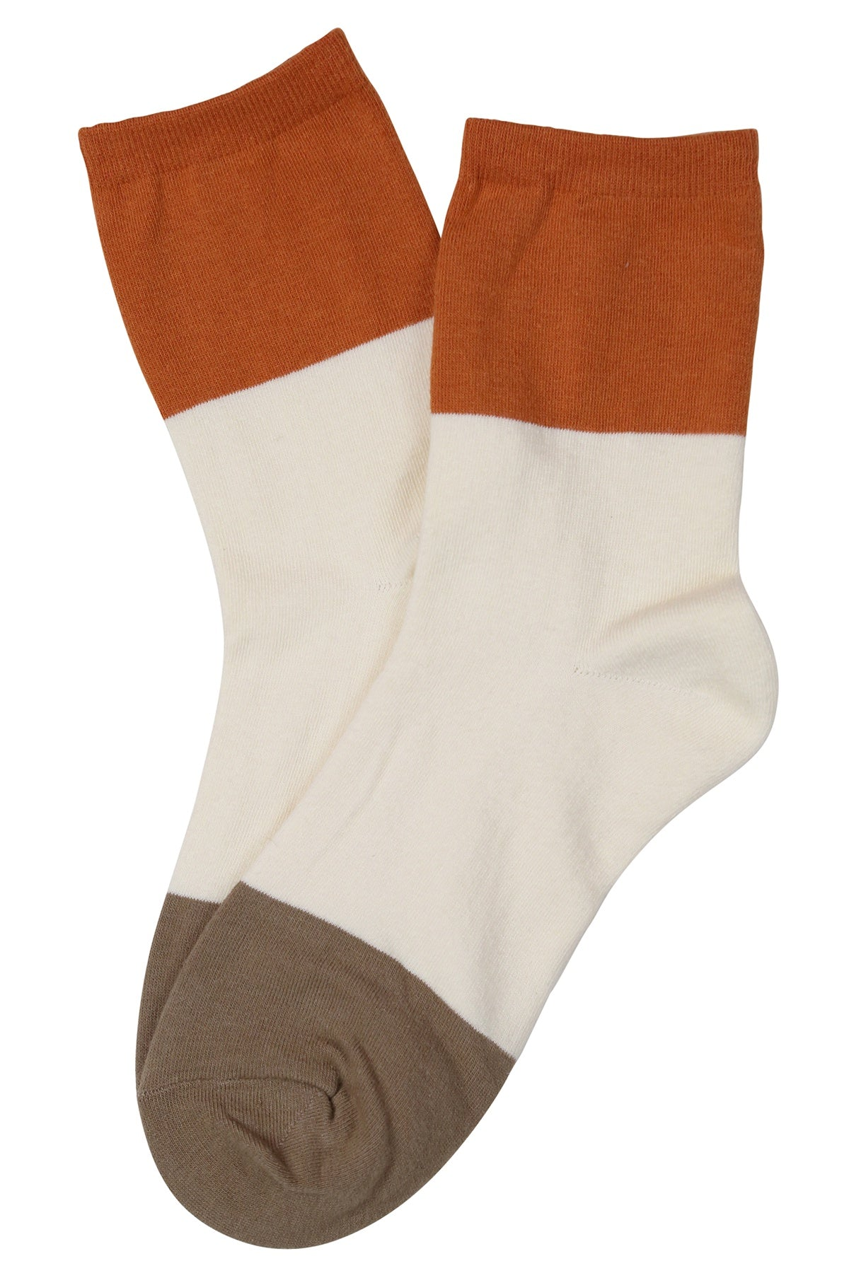 Squared Off Cotton Socks White