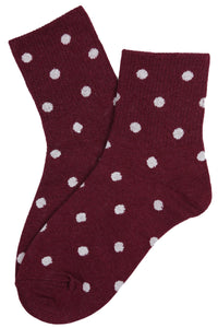 Sally Spotty Cotton Socks Vino