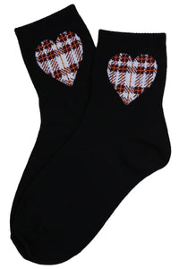 I Heart Cotton Socks Black