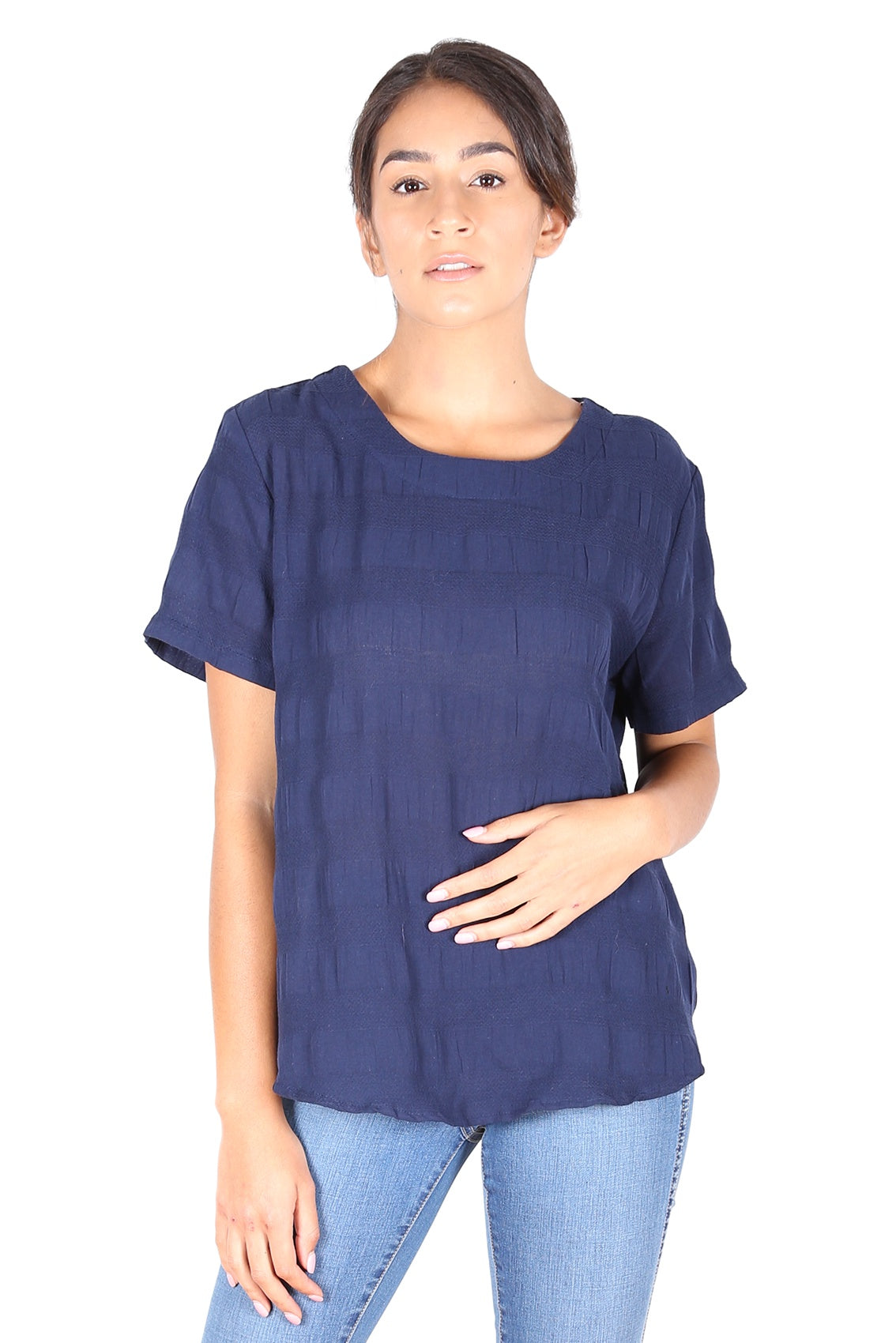 Cromwell Textured Top Navy