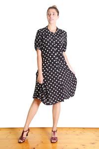 Spotty Lotte Dress Black