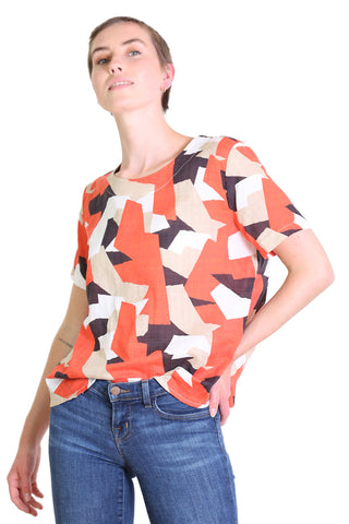 Cutting Edge  Seer Top Orange