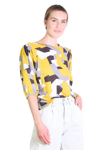 Cutting Edge Seer Blouse Mustard Yellow