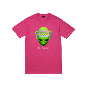 free from life tee (cyber pink) - Get Free Co