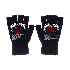 Disassociate Fingerless Gloves (Black) - Get Free Co
