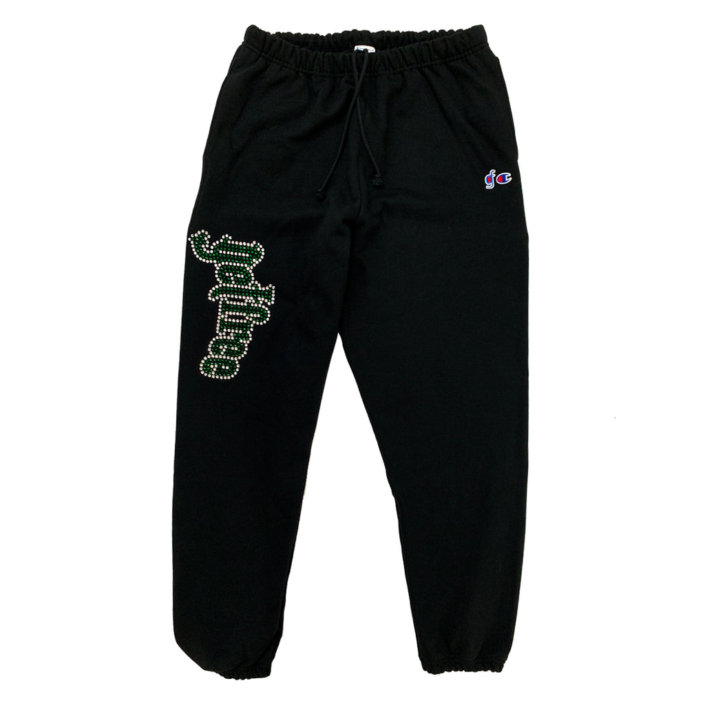 TOXIC Rhinestone Sweat Pants - Get Free Co