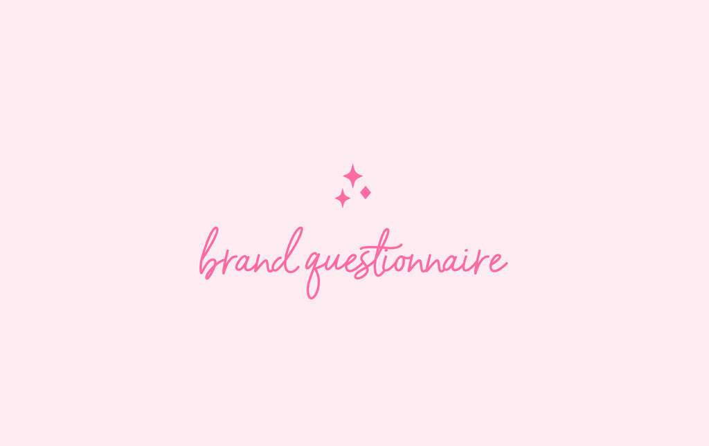Brand Questionnaire for every Lash Artist