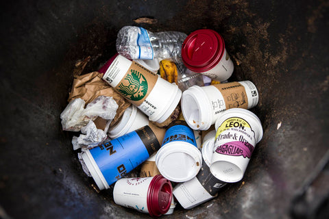 Disposable cup waste
