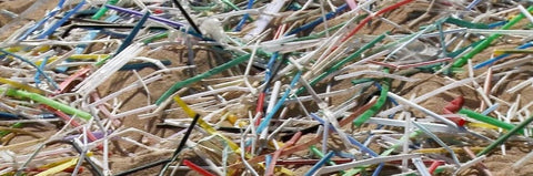 Straw marine litter