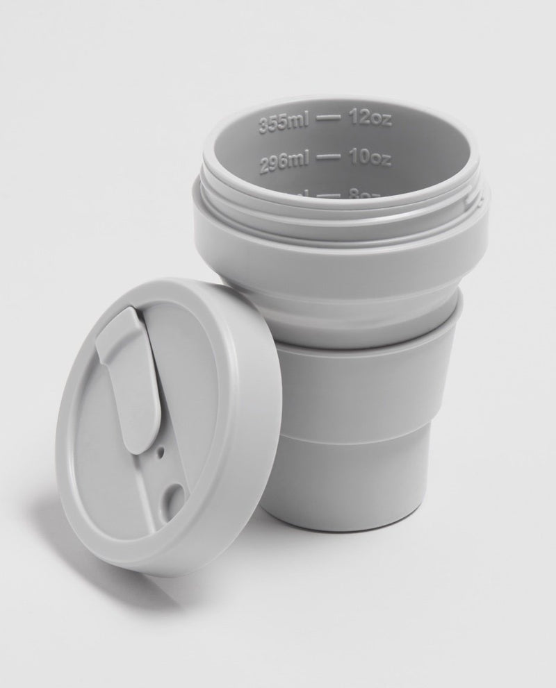 Stojo Brooklyn 12oz Collapsible Reusable Cup: Cashmere Grey