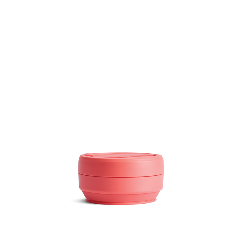 Stojo Brooklyn Pocket 12oz Collapsible Reusable Cup: Coral Pink