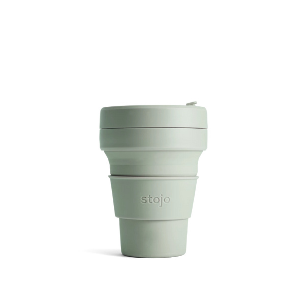Stojo Brooklyn Pocket 12oz Cup: Sage