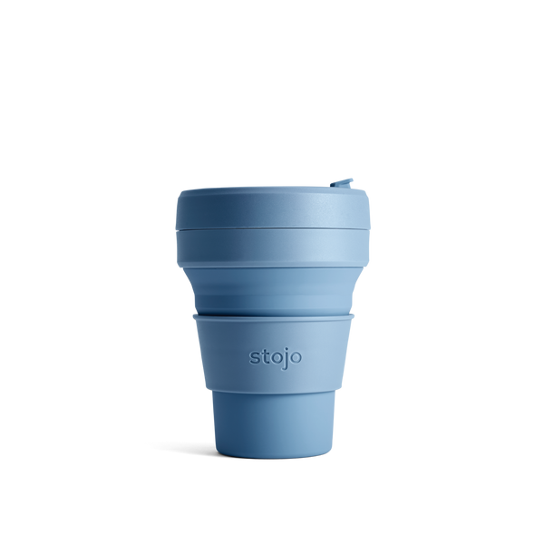 Stojo Brooklyn Pocket 12oz Cup: Steel Blue