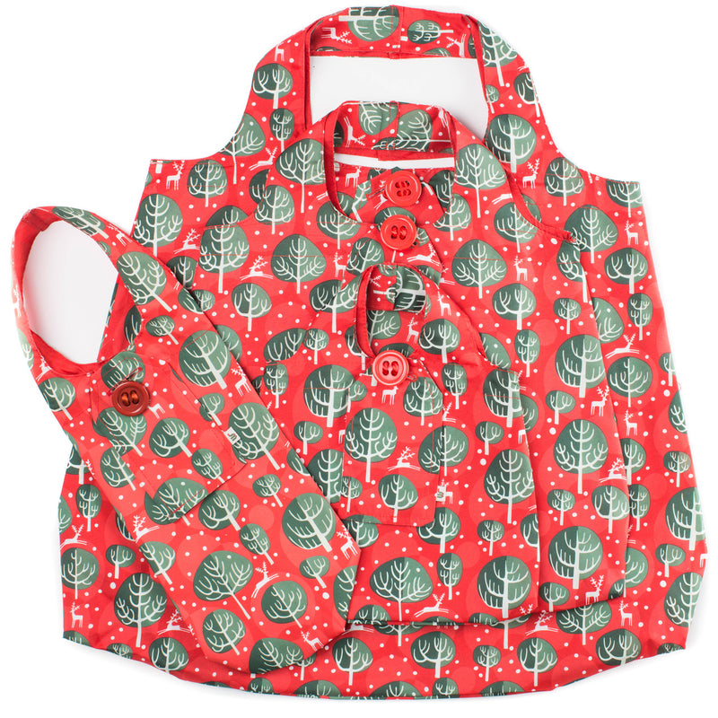 Wrag Wrap Christmas Bags Pack: Red Berry