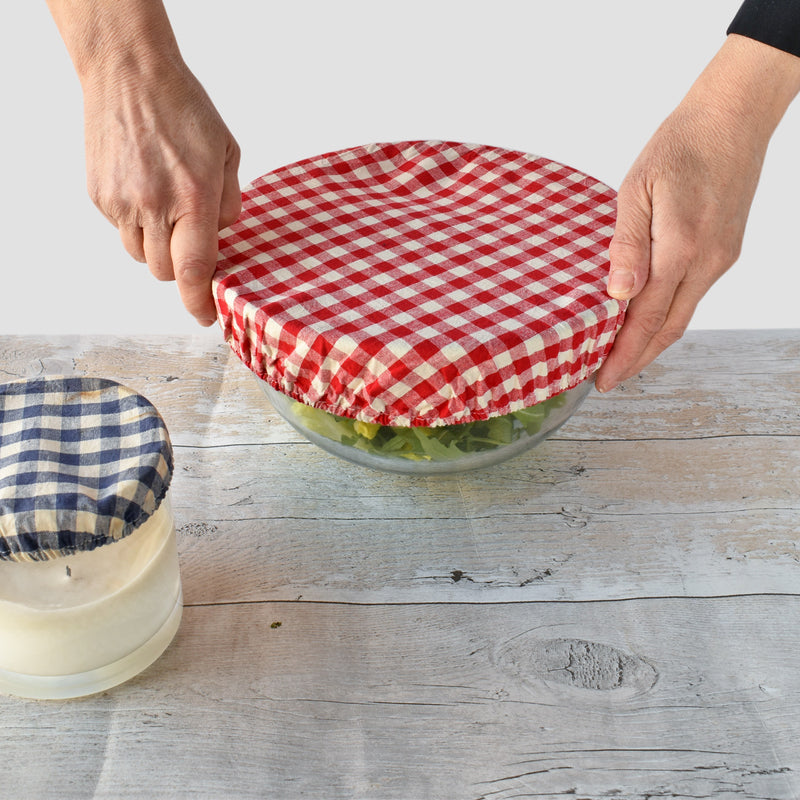 Bowl Over Reusable Cotton Bowl Covers: Red Gingham