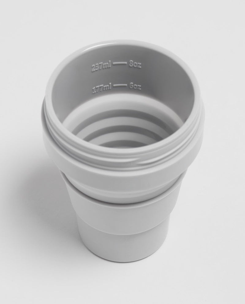 Stojo Brooklyn 8oz Collapsible Reusable Cup: Cashmere Grey
