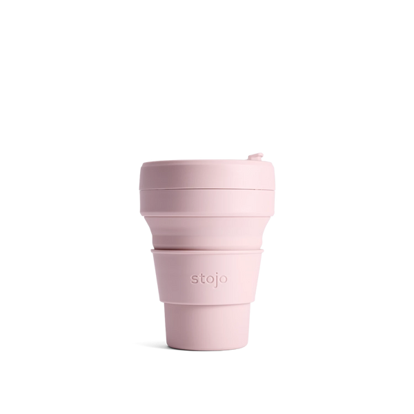 Stojo Brooklyn 8oz Collapsible Reusable Cup: Carnation Pink