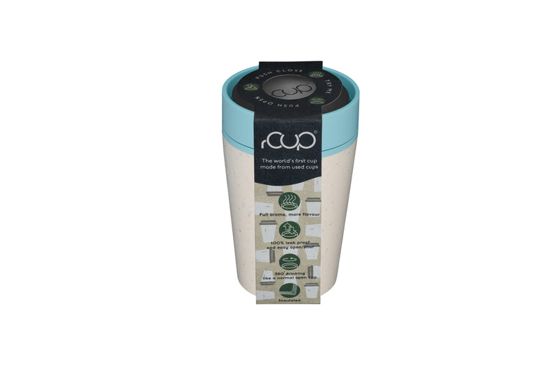 rCUP Reusable 100% Leakproof Cup - Cream and Teal