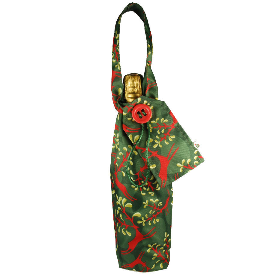 Wrag Wrap Bottle Bag: Christmas Reindeer
