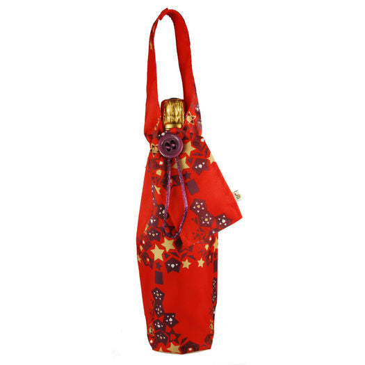 Wrag Wrap Reusable Bottle Bag: Cranberry Red