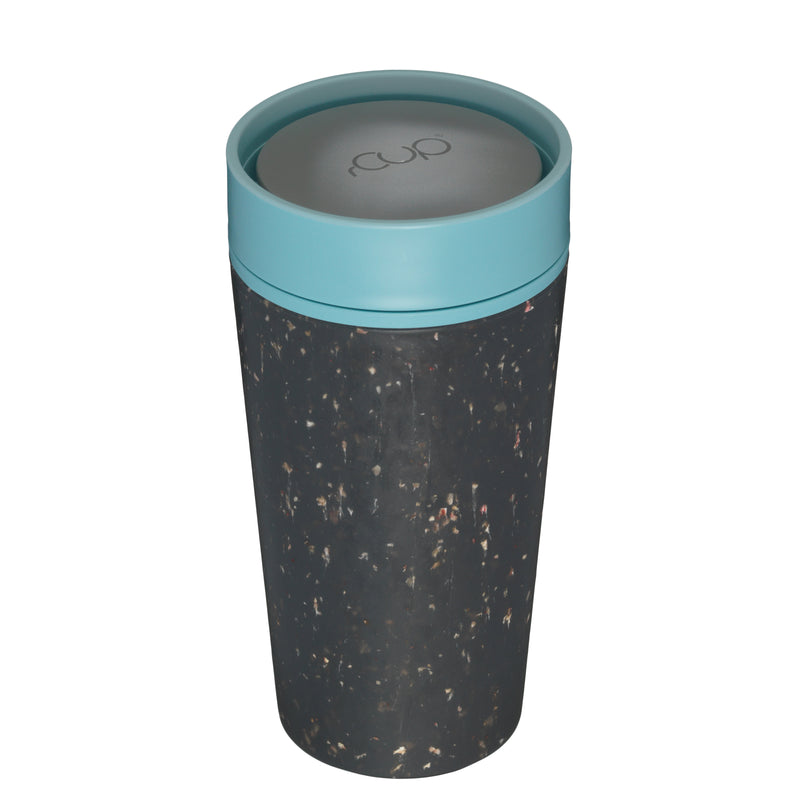 rCUP Reusable 100% Leakproof Cup - Black and TealrCUP Reusable 100% Leakproof Cup - Black and Teal