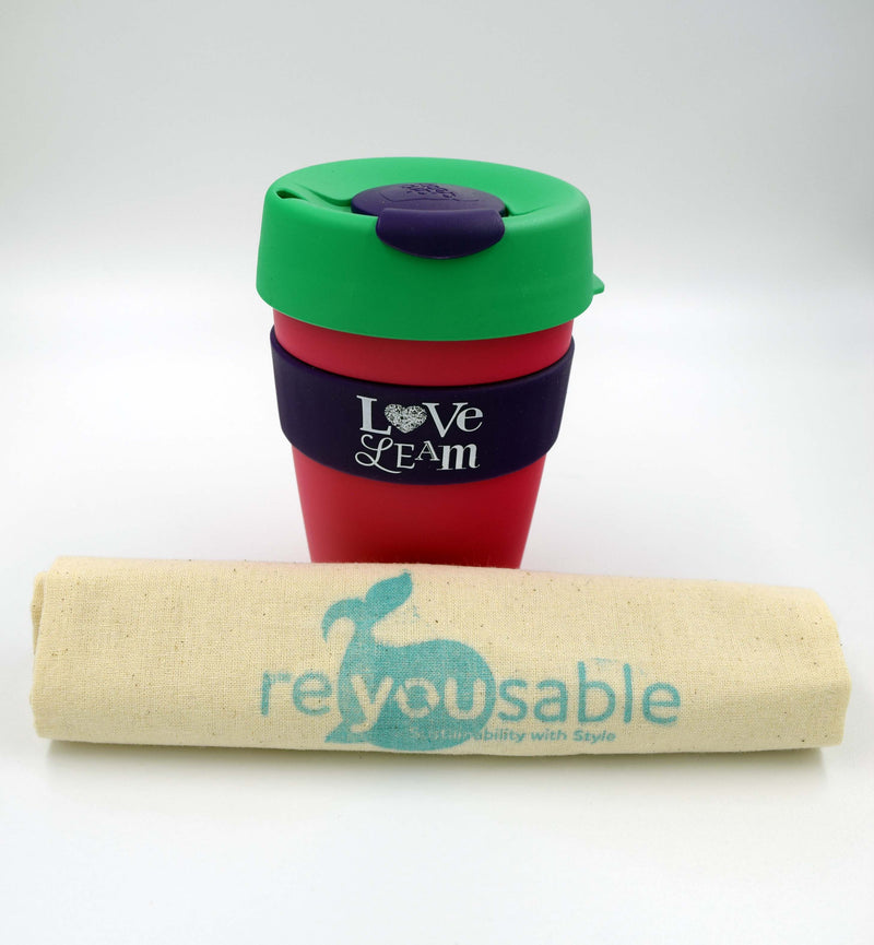 Love Leam KeepCup Original Medium - Purple/Green/Pink