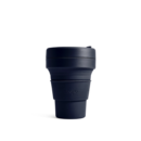 Stojo Brooklyn 12oz Collapsible Reusable Cup: Denim Blue