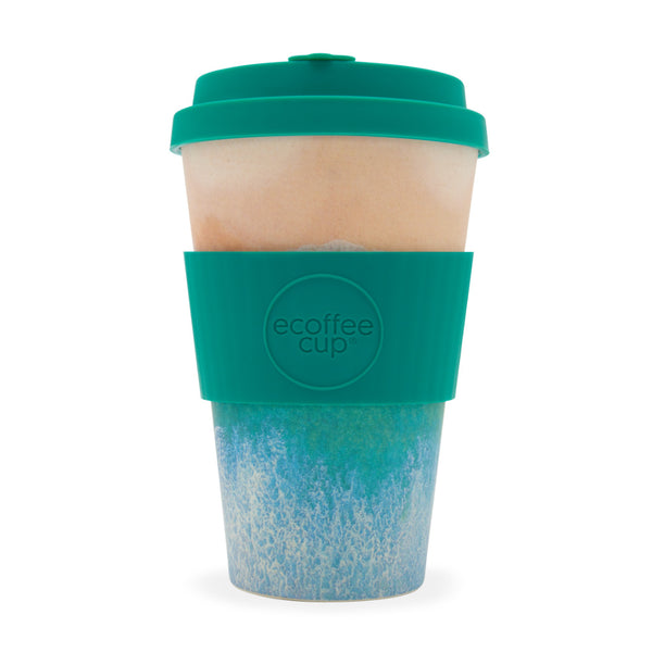 Ecoffee Reusable Cup Large Surfers against Sewage Porthcurno 14oz 400ml