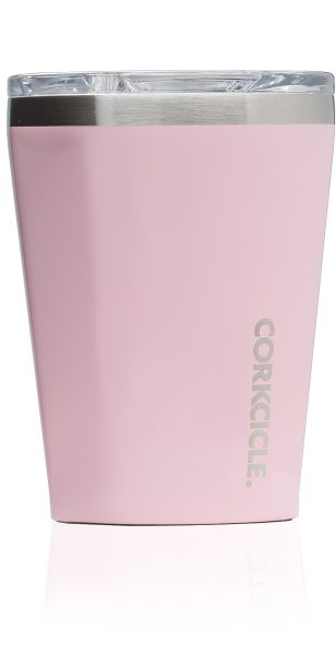 Corkcicle Reusable Cup Gloss Rose Quartz Insulated Tumbler 12oz 355ml